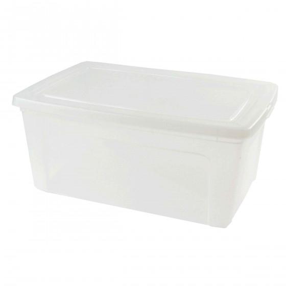 Boîte en plastique transparent avec couvercle. (XL)