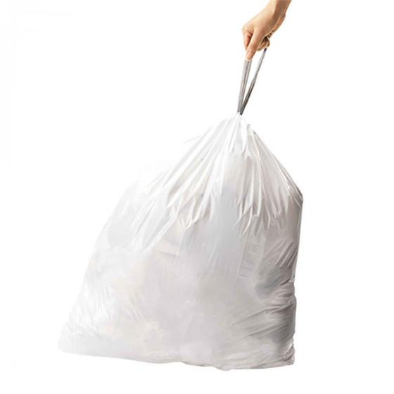 60 sacs poubelles pour poubelle à 2 compartiments 30à 35 L