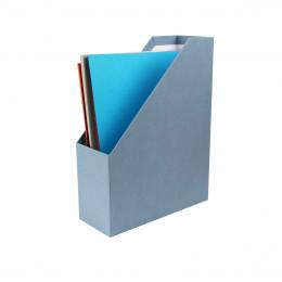 Range dossiers bleu gris