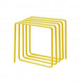 Porte-revues et courriers en métal jaune