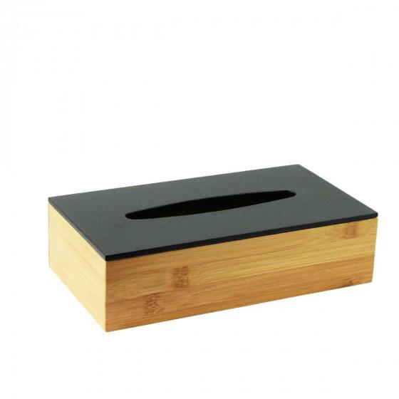 Boîte à mouchoirs en bambou noir