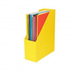Range-dossiers en carton jaune