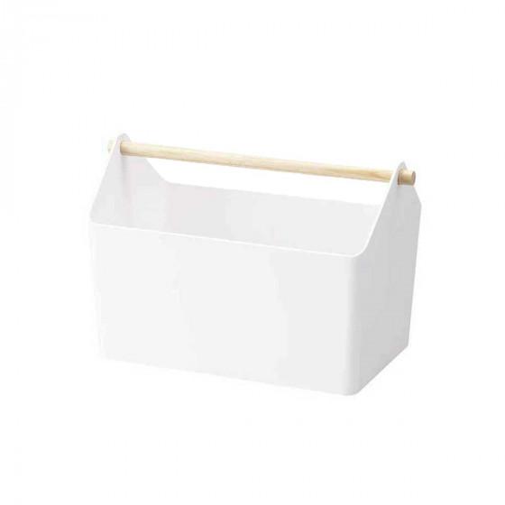 Bac de rangement blanc avec poignée
