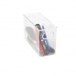 Organisateur rectangulaire S de placard en plastique transparent