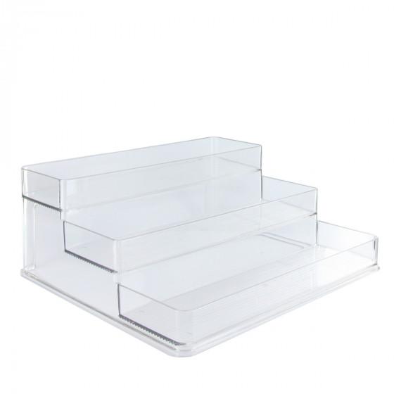 Etagère  en plastique transparent pour placard.Taille L