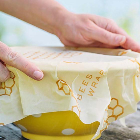 Set de 3 papiers d'emballage alimentaire réutilisables et lavables M