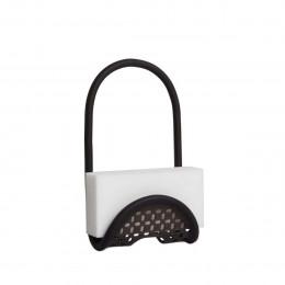 Porte éponge flexible noir pour évier