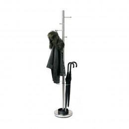 Porte manteaux / porte parapluies en métal chromé