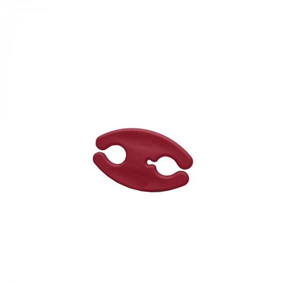 Porte écouteurs rouge bordeaux