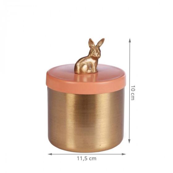 Boîte à bijoux dorée