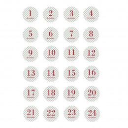 24 étiquettes pour calendrier de l'Avent