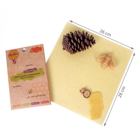 Lot 3 films alimentaires réutilisables M à la cire d'abeille