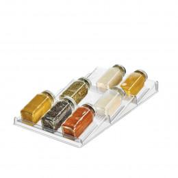 Range-épices pour tiroir, en plastique transparent