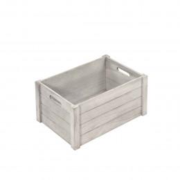 Caisse en bois gris. S