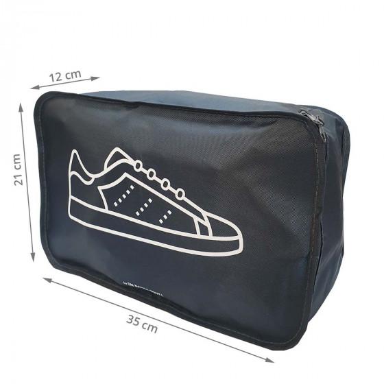 Housse de voyage grise pour baskets