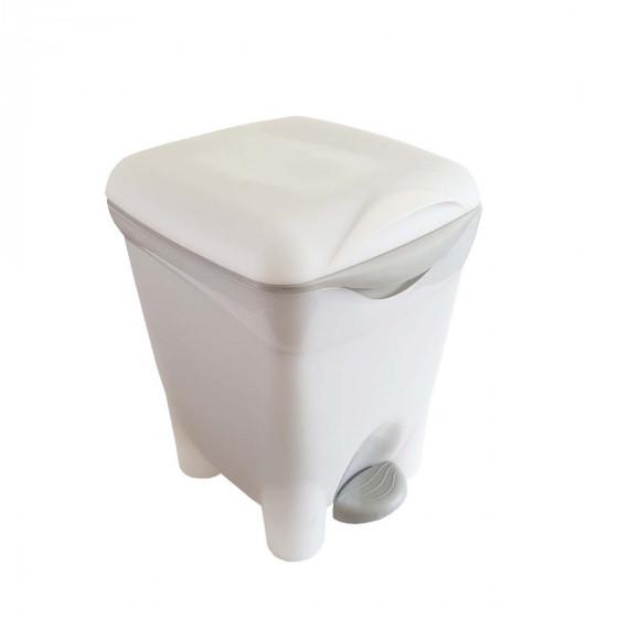Poubelle de salle de bain 8 litres avec seau intérieur et pédale