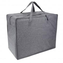 Grand sac de rangement en tissu gris chiné