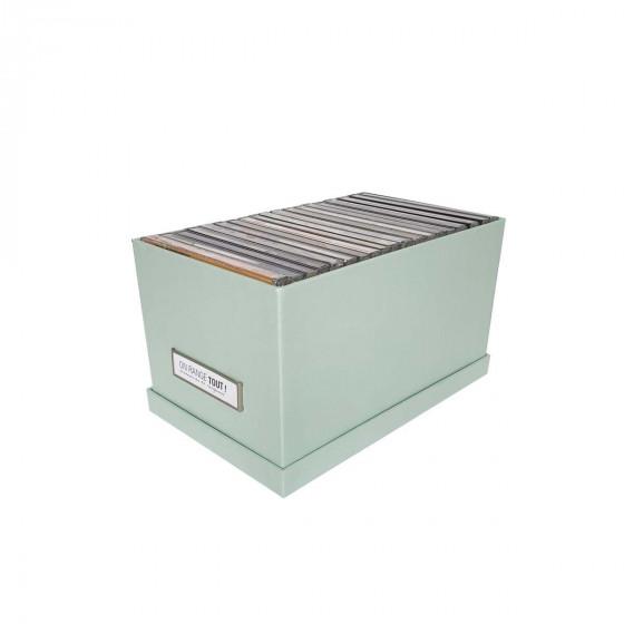 Boîte à CD en carton vert pastel