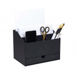 Organisateur de bureau compact gris anthracite