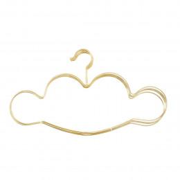 5 cintres en métal doré nuage