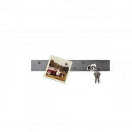 Petite barre magnétique murale en inox avec 6 aimants fins et puissants