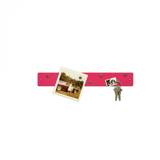 Petite barre magnétique murale rose avec 6 aimants fins et puissants