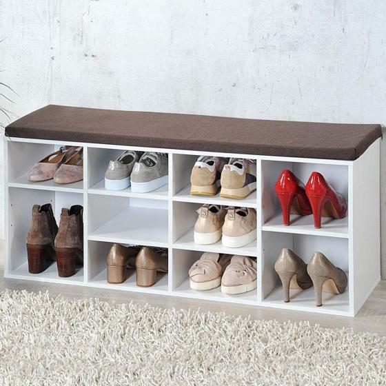 Banc de rangement pour chaussures