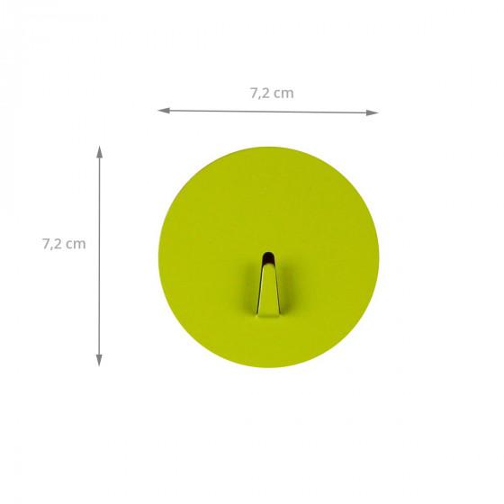 Grand crochet aimanté vert anis et rond