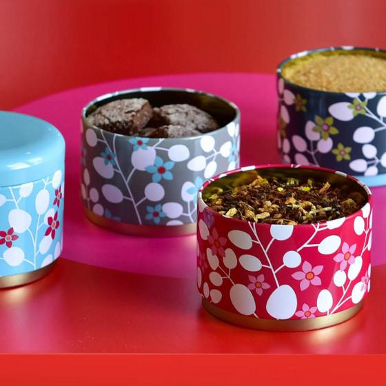 Boîtes rondes en métal empilables 8 cm
