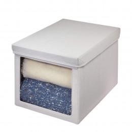 Boîte de rangement en tissu avec fenêtre transparente