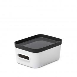 Boîte de rangement en plastique blanc pour salle de bain S