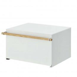 Boîte à pain placard blanc