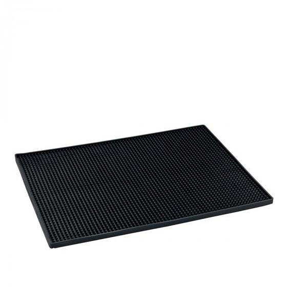 Tapis égouttoir en silicone noir
