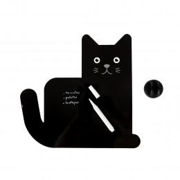 Tableau magnétique noir chat