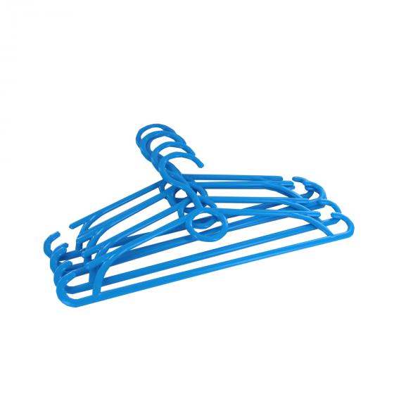 5 cintres pour enfant en plastique bleu roi