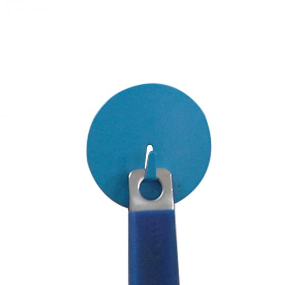 Grand crochet aimanté bleu et rond