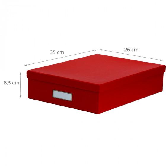 Boite A4 en carton rouge