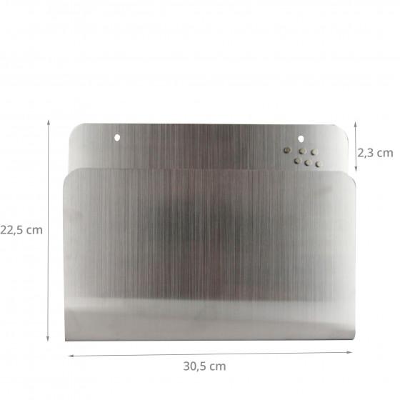 Porte-revues mural en métal chromé