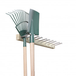 Porte-outils de jardin en pin