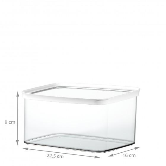 Boîte de rangement alimentaire empilable en plastique. 2 litres