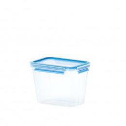 Boîte étroite et hermétique en plastique transparent. Taille M (1,1 litres)