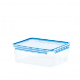 Boîte de conservation en plastique transparent.Taille M (1 litre)