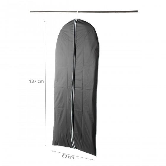 Housse pour vêtements en PEVA noir (L)