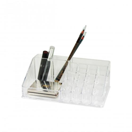 Présentoir de maquillage à 16 compartiments