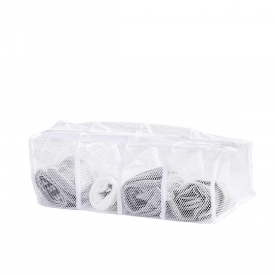 Filet à linge à 4 compartiments pour chaussettes
