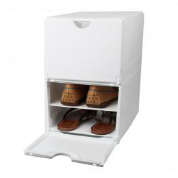2 boîtes de rangement pour 4 paires de chaussures