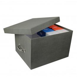 Boîte à archives en carton gris. Taille L