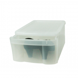 Boîte tiroir transparente pour chaussures. L