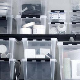 Boîtes - plastique, métal, carton, tissu