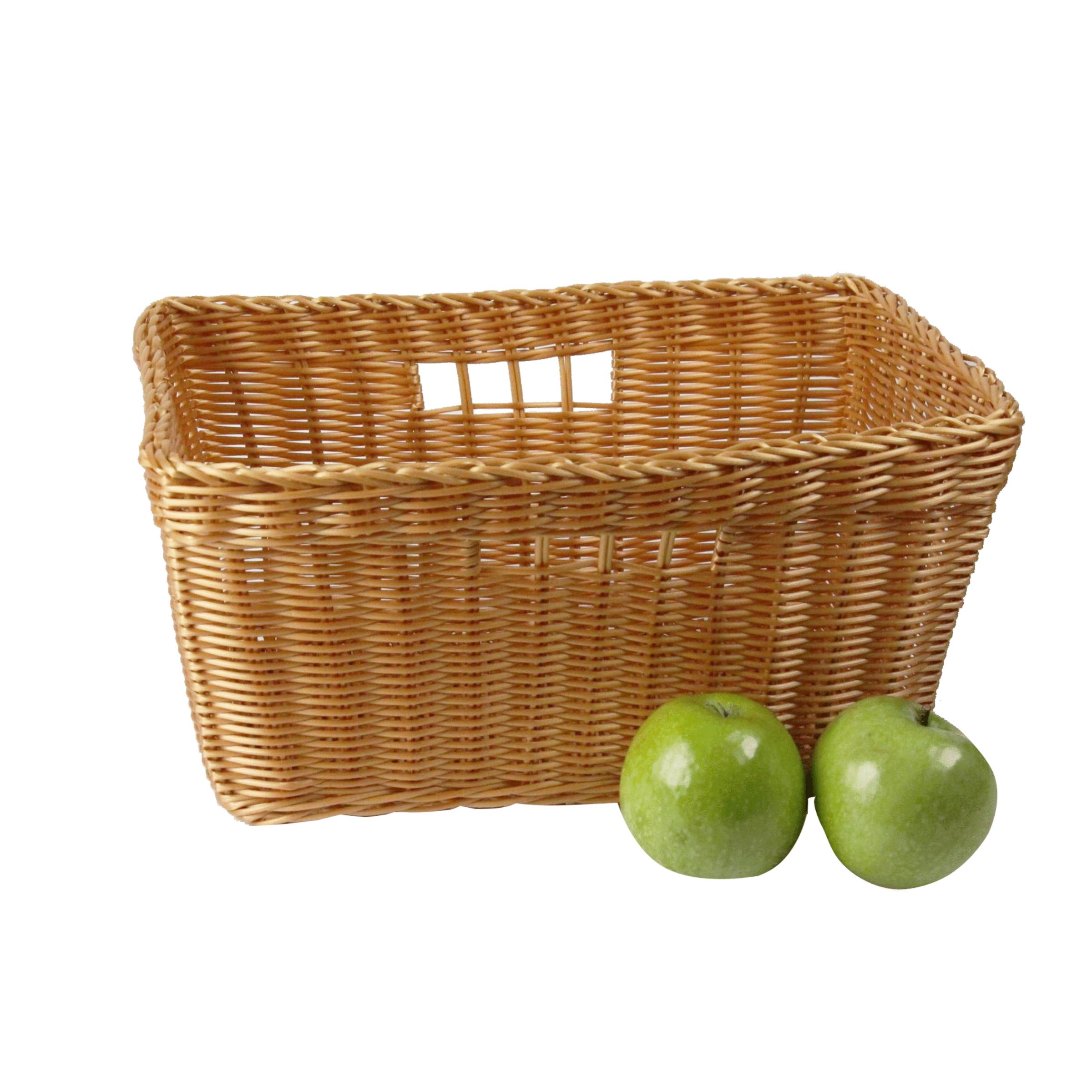 Panier à fruits et légumes en plastique effet osier